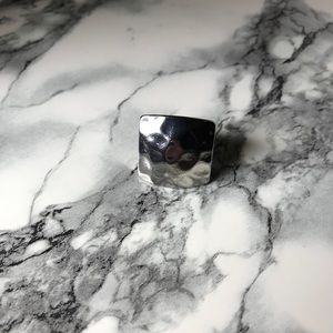 Jewelry - Shiny Silver Hammered Statement Ring
